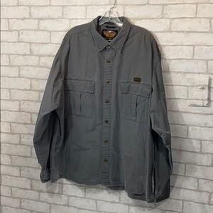 Harley-Davidson gray  button down shirt size XXL